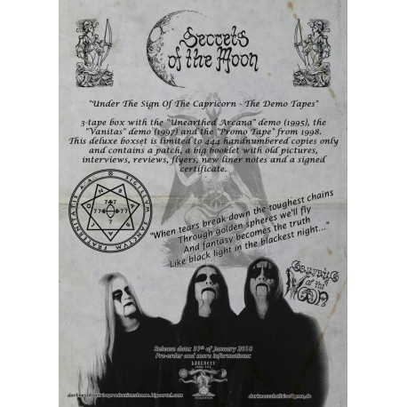 SECRETS OF THE MOON - Under The Sign Of The Capricorn (3-TAPE BOXSET - PRE ORDER)