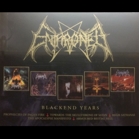 ENTHRONED - Blackened Years (4-CD)